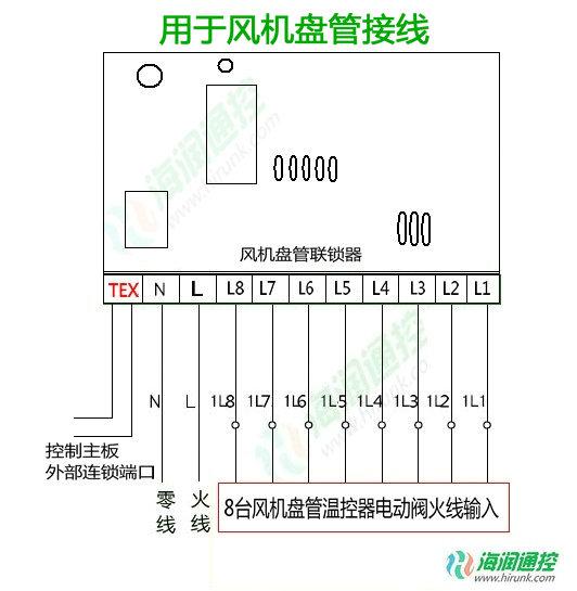 风机盘管连锁板 风机盘管联锁控制器电路接线图