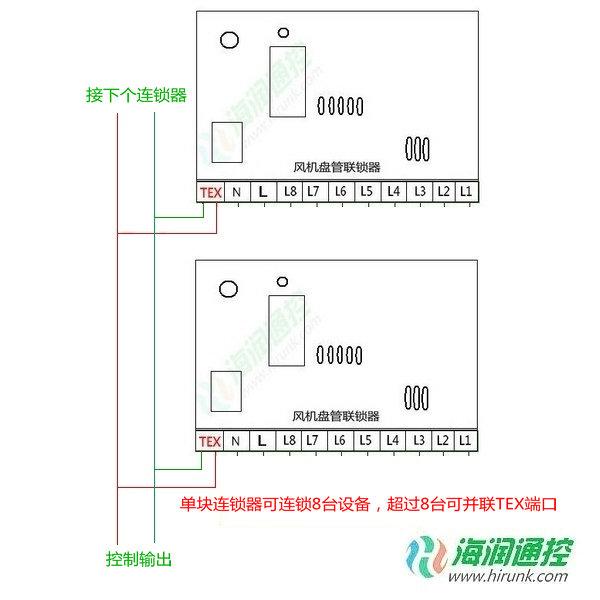 中央空调联锁控制器接线图