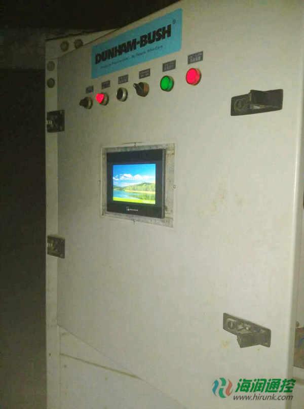 海润通控螺杆机通用控制器触摸屏安装