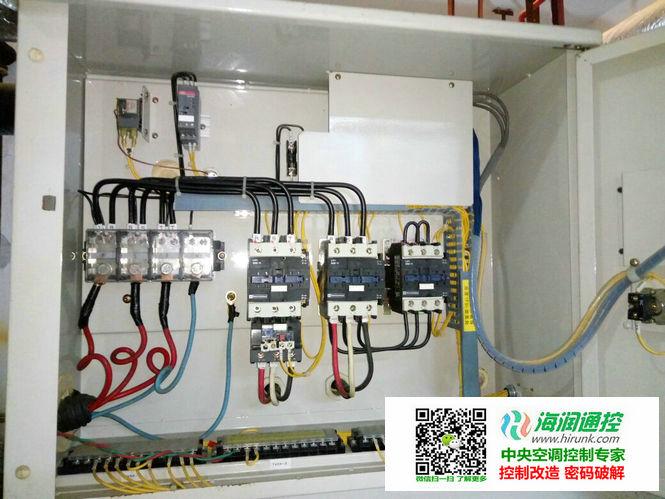 大金水冷风冷螺杆机控制器,改制热功能安装实例