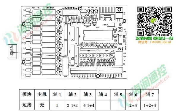 海尔风冷模块机LSQWRF65/130主板地址码设定
